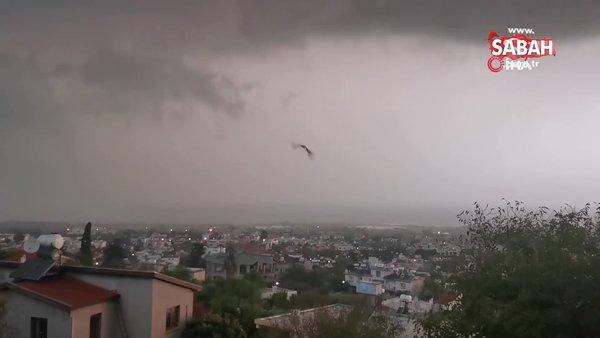 KKTC'yi şiddetli yağış ve dolu etkisi altına aldı | Video