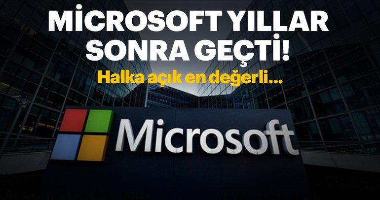 Microsoft yıllar sonra Alphabet'i geçti!