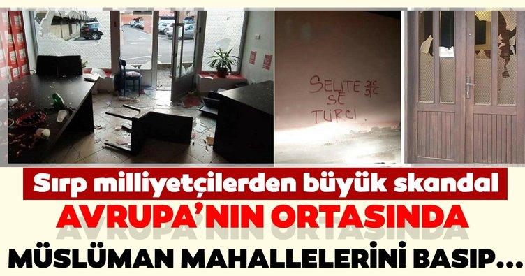 Sırp milliyetçileri sahnede! Avrupa'nın ortasında Müslümanlara yönelik skandal hareket...