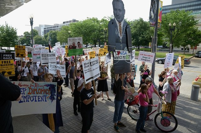 Washington DC'de İsrail karşıtı gösteri