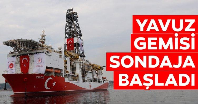 Yavuz gemisi sondaja başladı