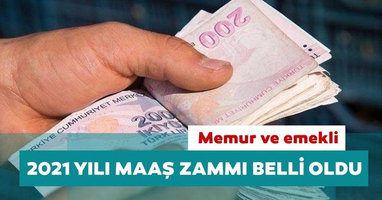 Memur ve emekli maaş zammı 2021 belli oldu: En düşük memur maaşı 4 bin 500 lira oldu