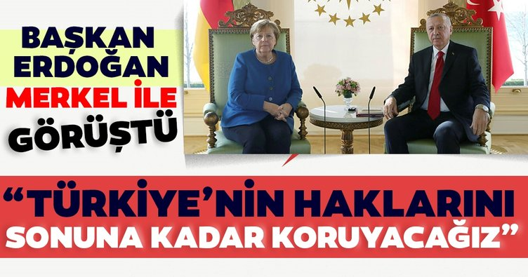 Son dakika: Başkan Erdoğan, Merkel ile görüştü... Gündem Doğu Akdeniz