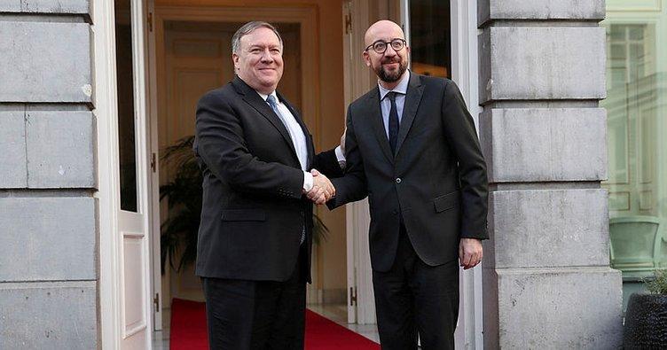 Belçika Başbakanı Michel, ABD Dışişleri Bakanı Pompeo'yu ağırladı