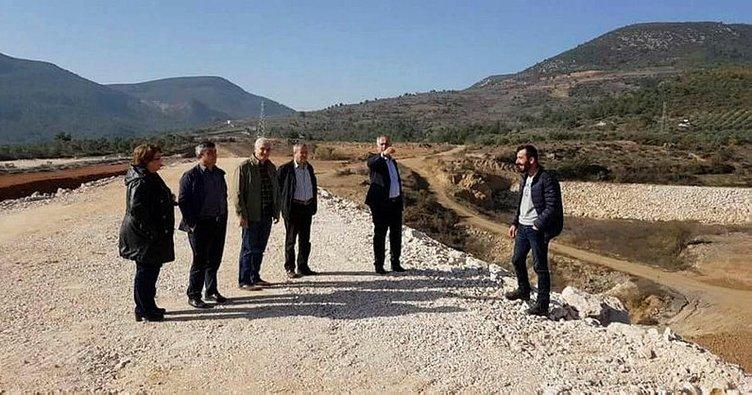 Başkan Yaman, Bayırköy göletinde incelemede bulundu