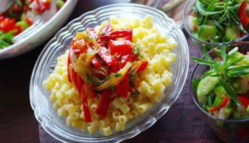 Kırmızı Biberli Soğanlı Makarna