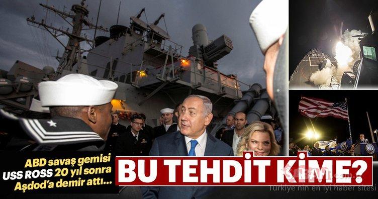 ABD savaş gemisi neden İsrail'e demir attı?