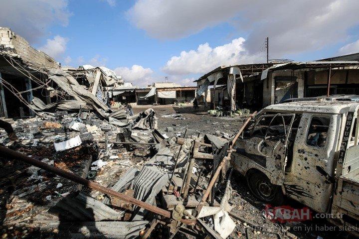 Esed rejiminden pazar yerine hava saldırısı! Çok sayıda sivil hayatını kaybetti