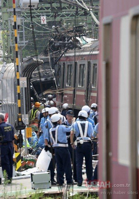 Japonya ağlıyor! Tren kazası faciaya yol açtı…