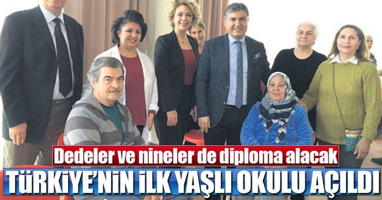 Türkiye'nin ilk yaşlı okulu açıldı