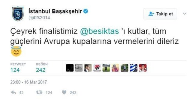 Başakşehir'den esprili mesaj