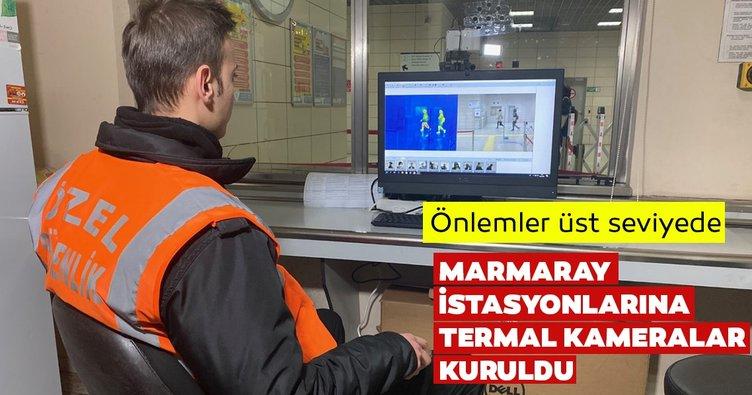 Son dakika: Marmaray istasyonlarına corona virüs tedbirleri amacıyla termal kameralar kuruldu