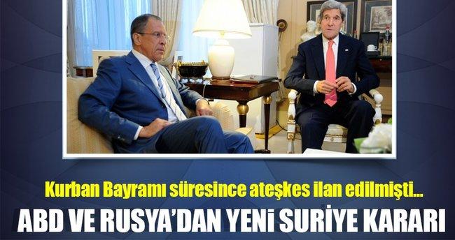 ABD ve Rusya'dan Suriye konusunda yeni karar