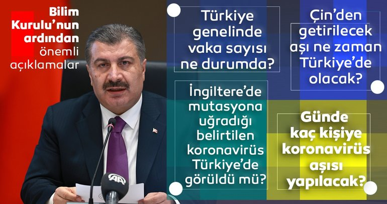 SON DAKİKA HABERİ: Sağlık Bakanı Fahrettin Koca koronavirüs aşısı için tarih verdi! İşte Koronavirüs aşısının Türkiye'ye geleceği tarih