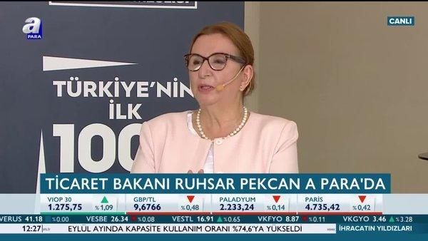 Ticaret Bakanı Ruhsar Pekcan: Eylül'de ihracatta en yüksek artışı gerçekleştireceğiz
