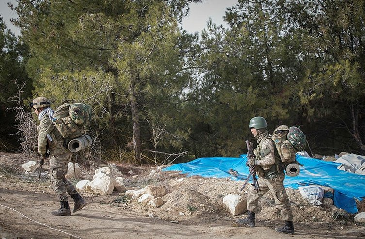 Afrin'e gerçekleştirilen Zeytin Dalı Operasyonu'ndan son kareler
