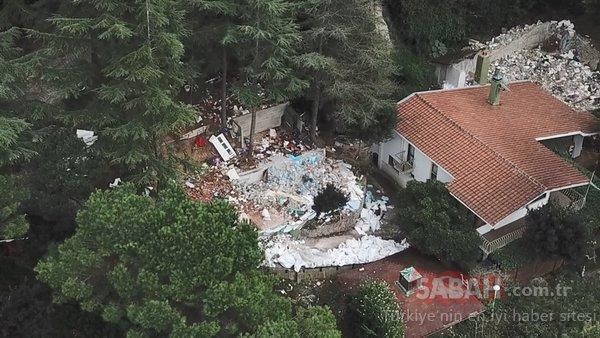 Adnan Oktar Örgütü'nün villasından son görüntüler