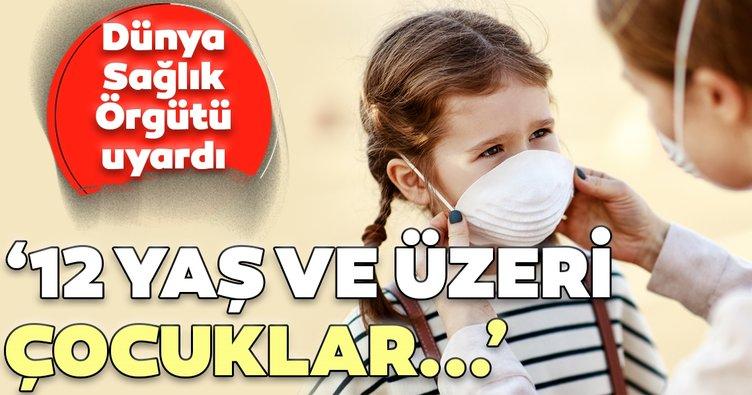 DSÖ'den çocuklara maske uyarısı