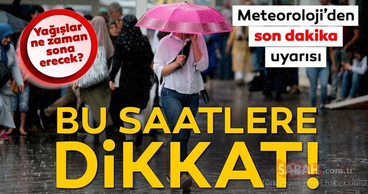Meteoroloji'den İstanbul'a peş peşe son dakika hava durumu ve sağanak yağış uyarısı geliyor! Yağışlar ne zaman sona erecek?