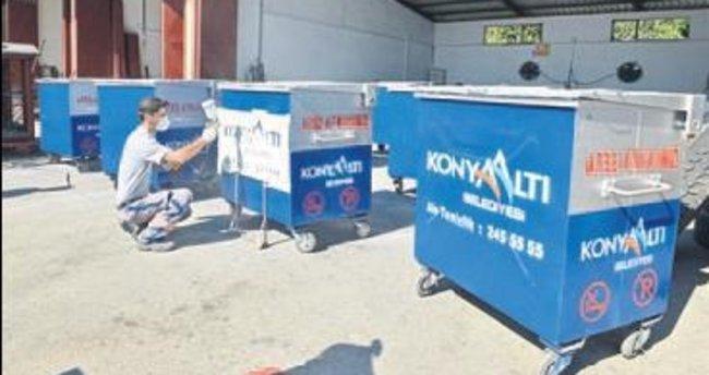 Konyaaltı konteynerleri yeniliyor
