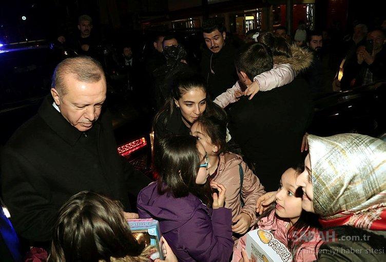 Başkan Erdoğan hemen konvoyu durdurdu ve...