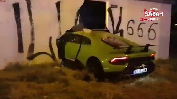 Arkadaşından ödünç aldığı lüks aracı 2.9 saniyede paramparça etti   Video