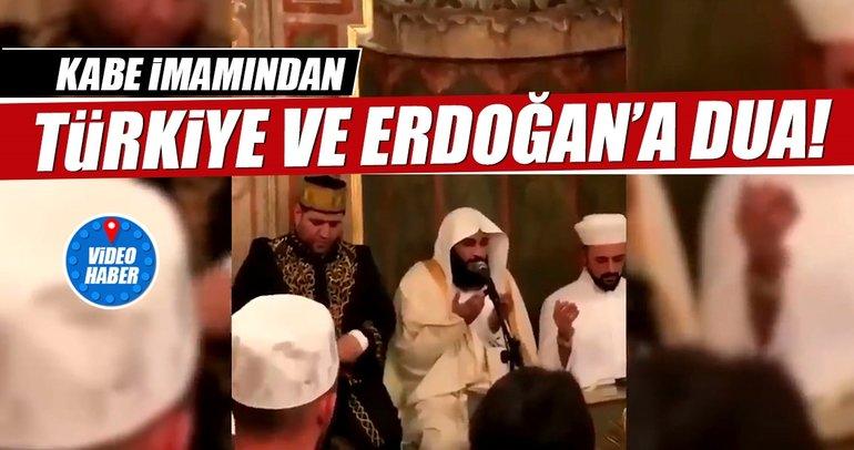 Kabe imamından Erdoğan'a dua