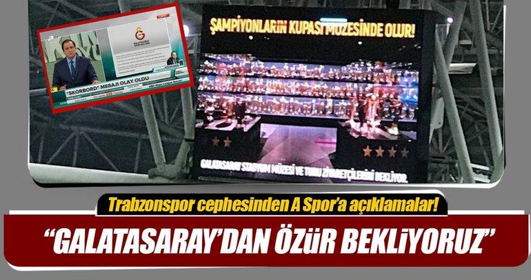 Gökhan Saral Galatasaray'dan özür bekliyoruz
