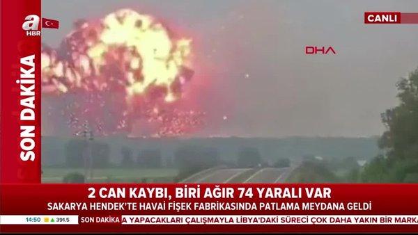 Son dakika: Sakarya'da PATLAMA ANI kamerada! Havai fişek fabrikasındaki ilk patlamanın yaşandığı o an!   Video
