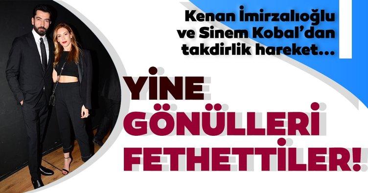 Kenan İmirzalıoğlu ve Sinem Kobal'dan takdirlik hareket! Kenan İmirzalıoğlu-Sinem Kobal yine gönülleri fethetti