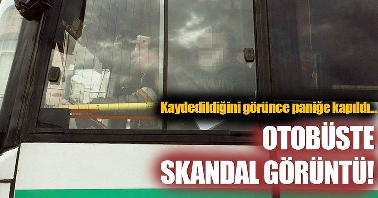 Otobüste skandal görüntü!