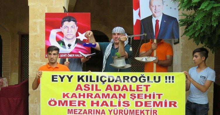 """""""Asıl adalet Ömer Halisdemir'in mezarına yürümektir"""""""