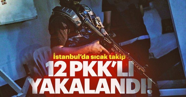 İstanbul'da 12 PKK'lı yakalandı
