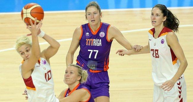 Galatasaray Kadın Basketbol Takımı, TTT Riga'nın konuğu