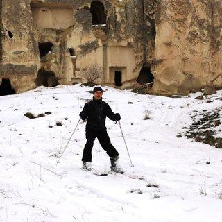 Peribacaları arasında kayak keyfi