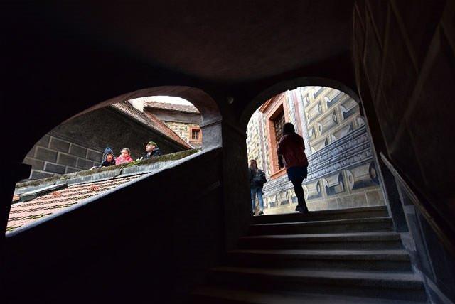 Orta Çağ şehri Cesky Krumlov