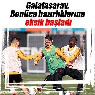 Galatasaray, Benfica hazırlıklarına eksik başladı