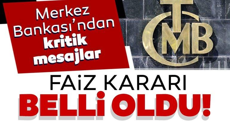 SON DAKİKA: Merkez Bankası Şubat ayı faiz kararı belli oldu!