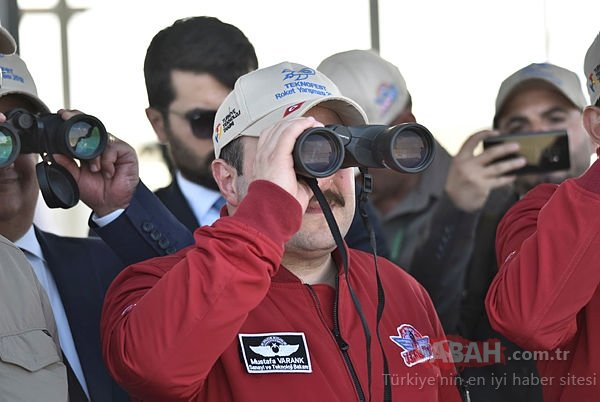 Bakan Varank TEKNOFEST roket yarışlarını izledi