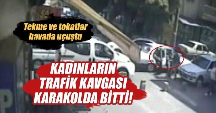 İki kadının 'trafik' tartışması kavgaya dönüştü