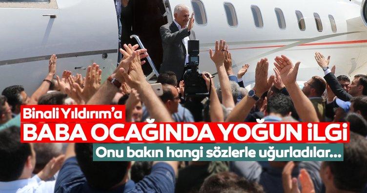 Binali Yıldırım'a baba ocağında yoğun ilgi: İstanbul seninle daha güzel olacak