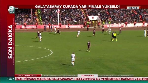 Hatayspor Galatasaray maçı geniş özeti! Hatayspor Galatasaray maçı özet ve tarışmalı pozisyonları