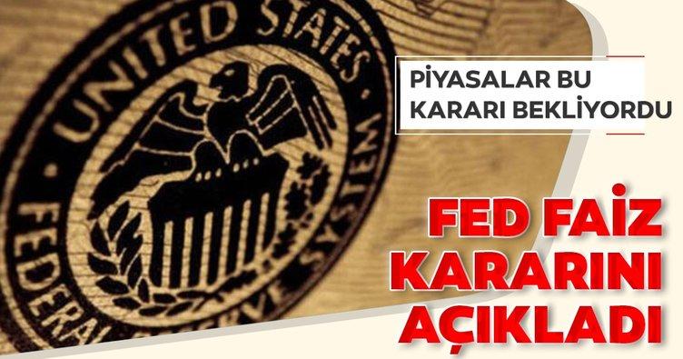 Son dakika: ABD Merkez Bankası Fed'den faiz kararı