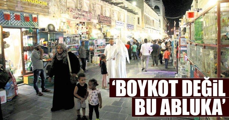 'Boykot değil bu abluka'