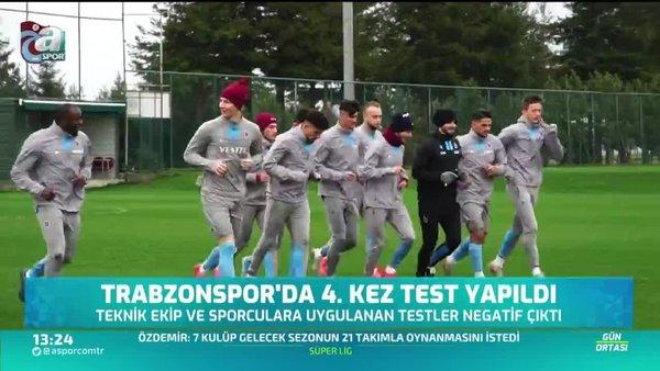 Trabzonspor'da 4. testler yapıldı