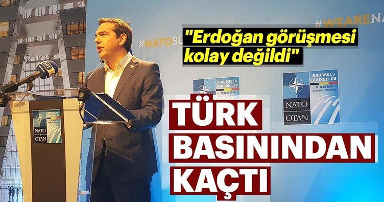 Yunanistan Başbakanı Çipras, Türk basınından kaçtı