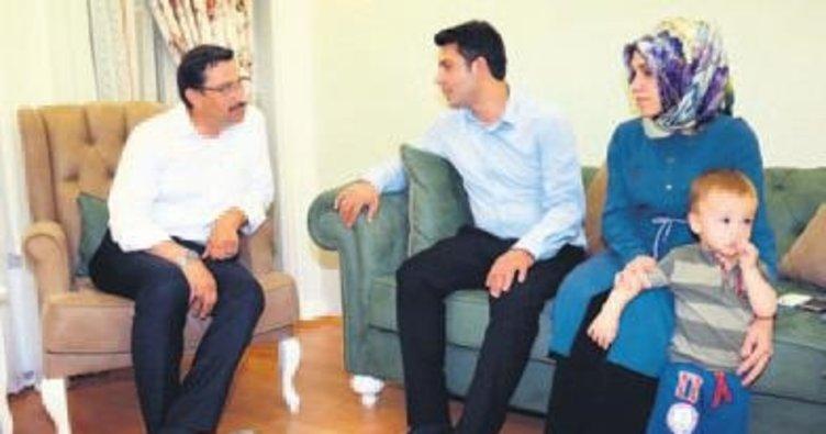 Başkan Ak'tan gazi Cihat Ünal'a ziyaret