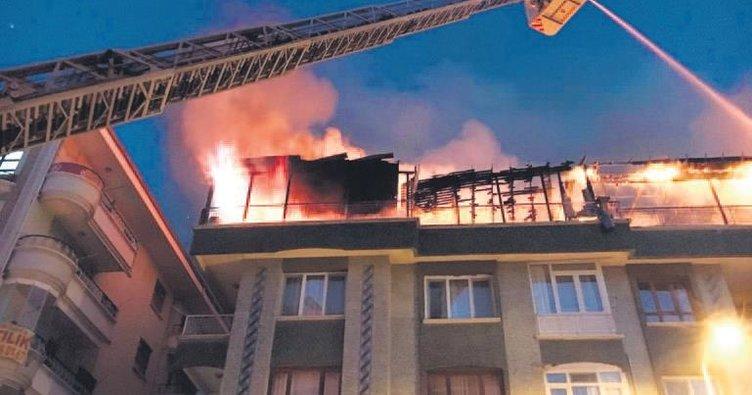 Terasta yangın paniği