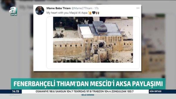 Fenerbahçeli futbolcu Thiam'dan Mescid-i Aksa paylaşımı