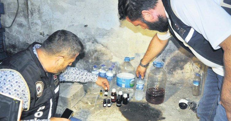 Başkentte sahte içki operasyonu 19 gözaltı